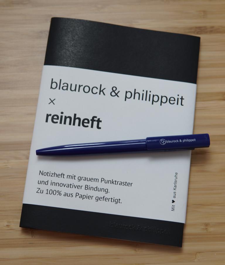 blaurock philippeit - notizheft - stift - spezialisten nachhaltig